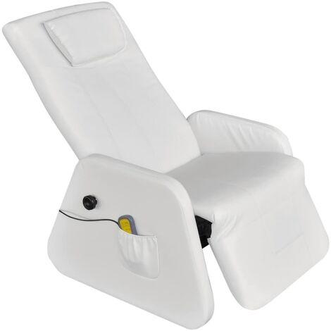 vidaXL Massagesessel Elektrisch Fernsehsessel Ruhesessel Polstersessel Liegesessel Relaxsessel TV Sessel Zero Gravity Kunstleder Schwarz/Weiß
