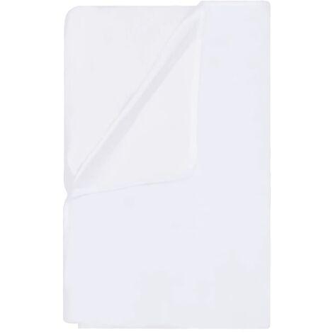 vidaXL Mattress Protectors Waterproof 2 pcs Cotton 100x200 cm White - White