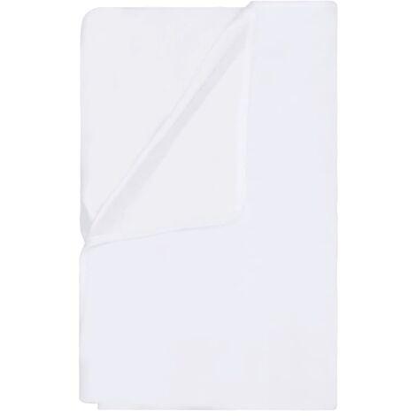 vidaXL Mattress Protectors Waterproof 2 pcs Cotton 120x200 cm White - White