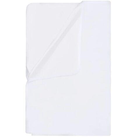 vidaXL Mattress Protectors Waterproof 2 pcs Cotton 160x200 cm White - White