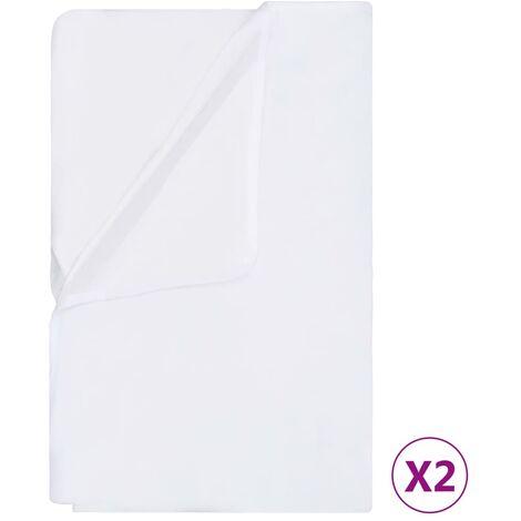 vidaXL Mattress Protectors Waterproof 2 pcs Cotton 60x120 cm White - White
