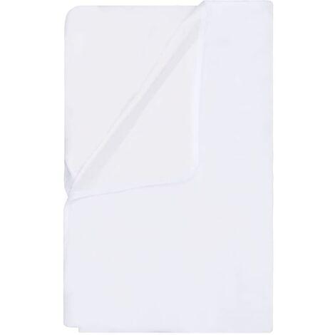 vidaXL Mattress Protectors Waterproof 2 pcs Cotton 80x200 cm White - White