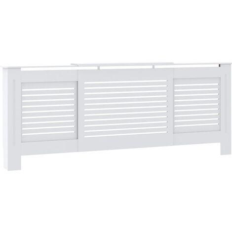 vidaXL MDF Radiator Cover White 205 cm - White
