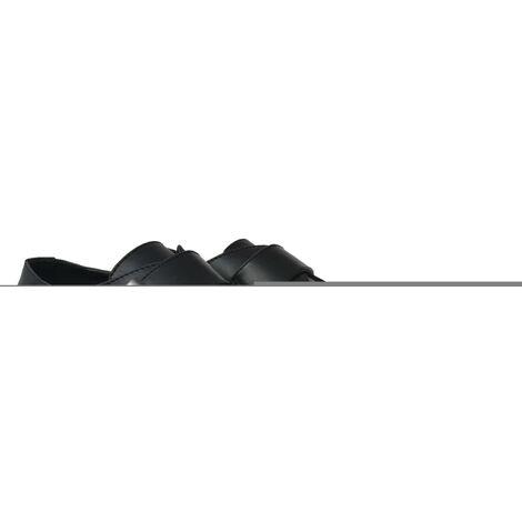 vidaXL Men's Monk Strap Shoes Black Size 7.5 PU Leather - Black