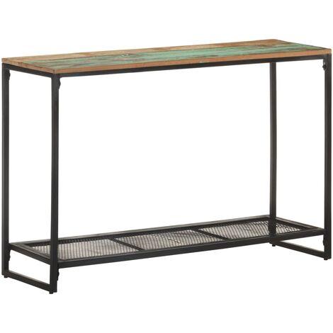 vidaXL Mesa consola de madera maciza reciclada 110x35x75 cm - Marrón