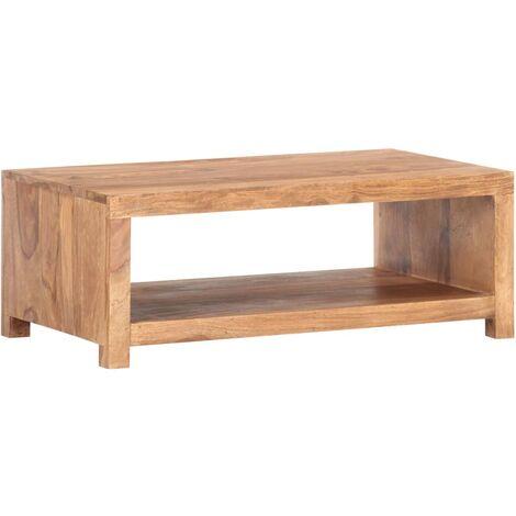 vidaXL Mesa de centro de madera maciza de sheesham 80x45x30 cm - Marrón
