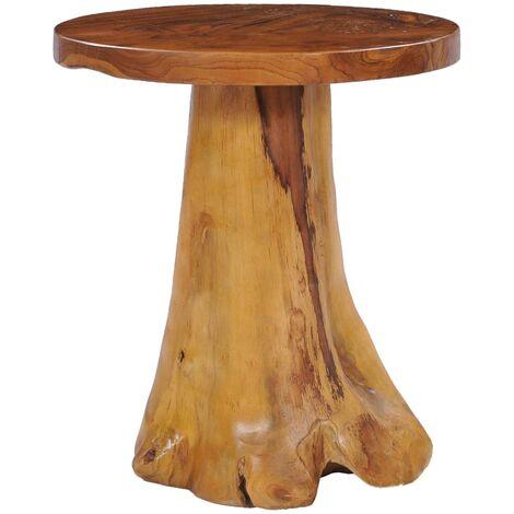 vidaXL Mesa de centro de madera maciza de teca 40x40 cm - Marrón