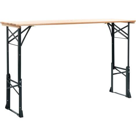 vidaXL Mesa de jardín plegable madera de pino 169x50x75/105 cm - Marrone