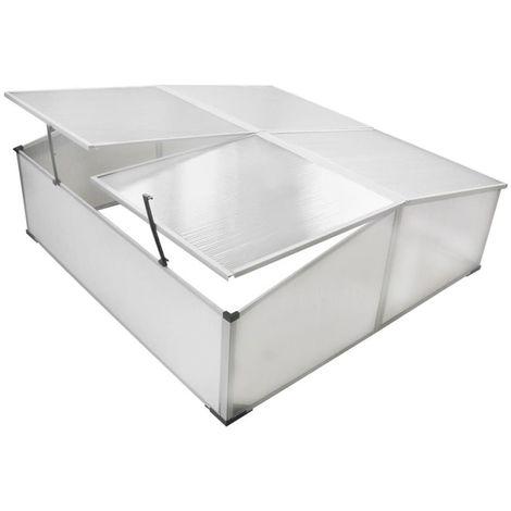 VidaXL Mini invernadero de policarbonato 108 x 41 x 110 cm / 4 tapas