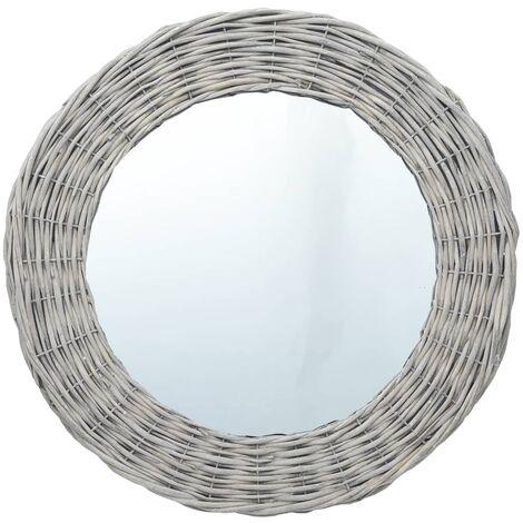 vidaXL Miroir 40 cm Osier