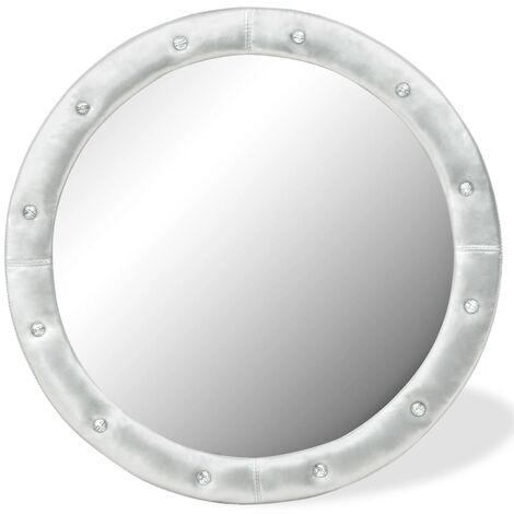 vidaXL Miroir Mural Cuir Artificiel Miroir Décoratif Multi-taille Multicolore