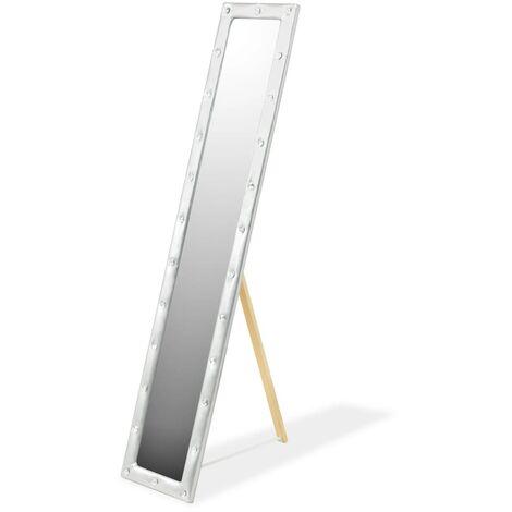 vidaXL Miroir sur Pied Cuir Artificiel Miroir Décor Multi-taille Multicolore
