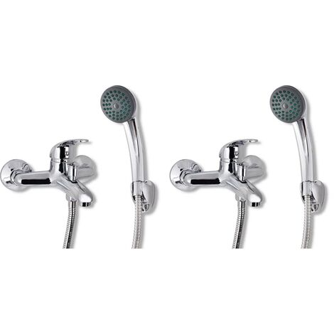 vidaXL Mixer Showers 2 pcs - Silver