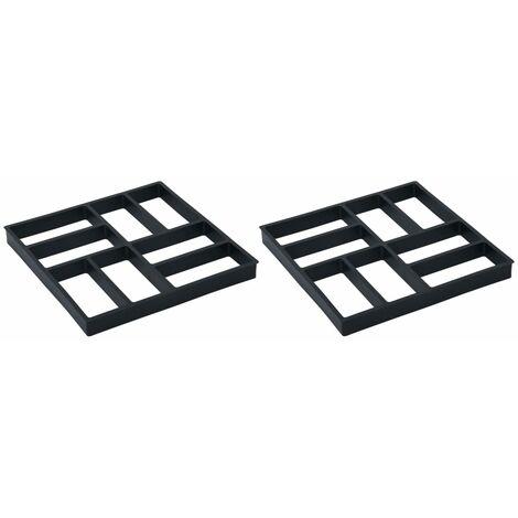 vidaXL Moldes para pavimento 2 unidades plástico 40x40x4 cm