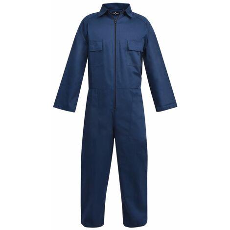 vidaXL Mono de trabajo de hombre talla L azul - Azul
