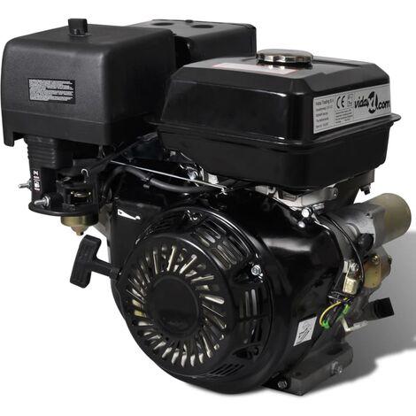 vidaXL Motor de gasolina con arranque eléctrico 15 CV 11 kW negro