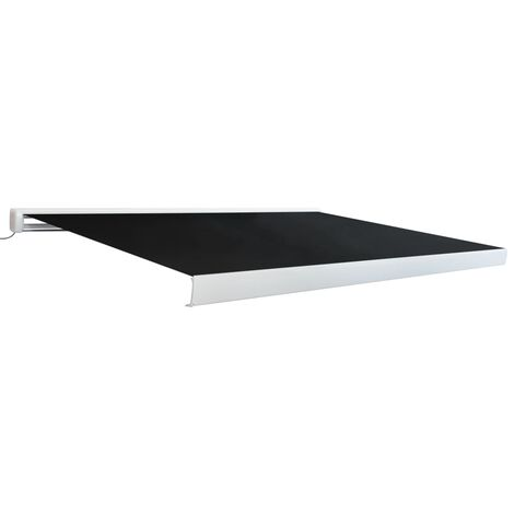 vidaXL Motorised Cassette Awning Anthracite Retractable Canopy Multi Sizes