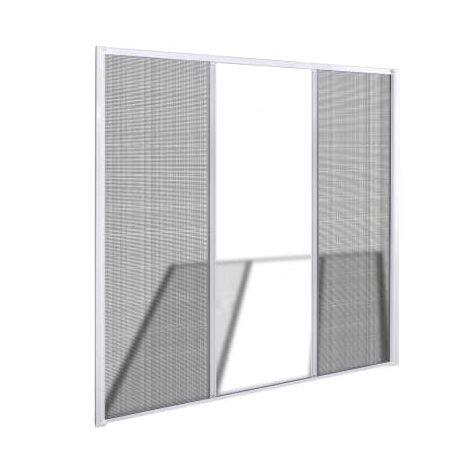 vidaXL Moustiquaire coulissante pour portes doubles Blanc 215x215 cm