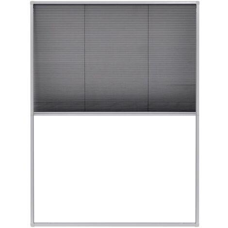 vidaXL Moustiquaire Plissée Fenêtre Aluminium Protection Insectes Multi-taille
