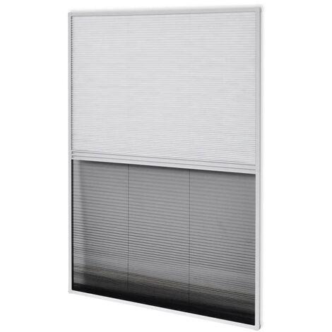 vidaXL Moustiquaire Plissée pour Fenêtre et Store Aluminium Store de Protection Contre Insectes Volants Pare-soleil Maison Multi-taille