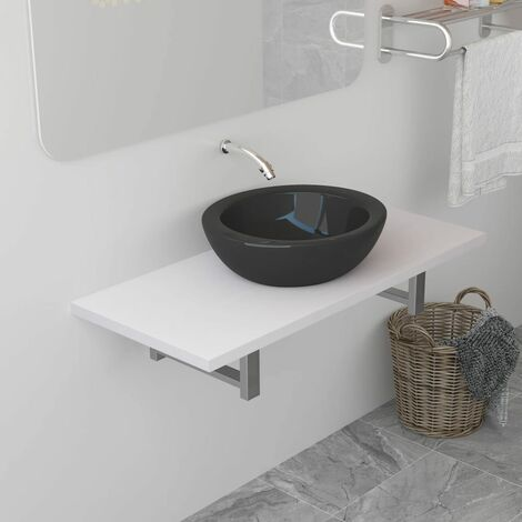 vidaXL Mueble de cuarto de baño blanco 90x40x16,3 cm - Blanco