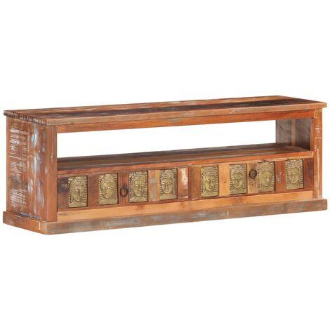 vidaXL Mueble de TV enchape de Buda madera reciclada 120x30x40 cm