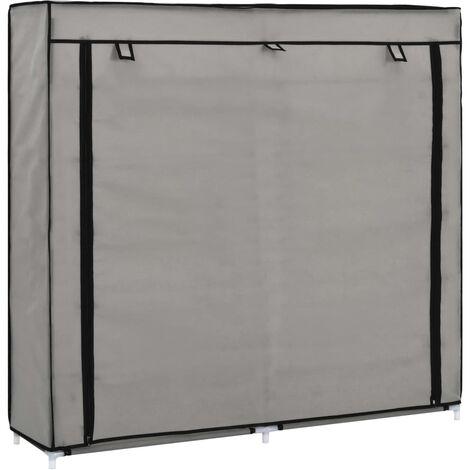 vidaXL Mueble zapatero de tela con funda gris 115x28x110 cm (no se puede enviar a Baleares)