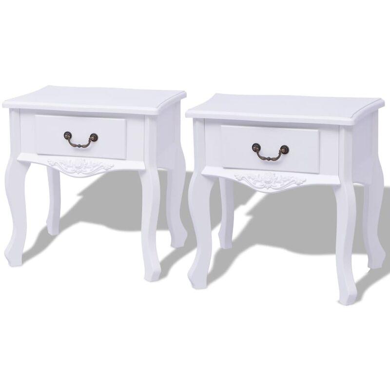 Nachttisch Weiß MDF 2 Stk. - VIDAXL