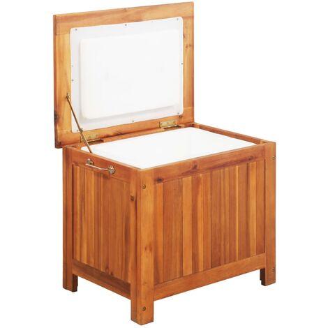 vidaXL Nevera portátil de madera maciza de acacia 63x44x50 cm - Marrón