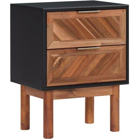 vidaXL Nightstand 40x30x53 cm Solid Acacia Wood and MDF - Brown