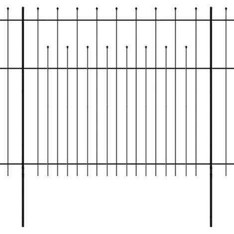 vidaXL Ornamental Security Palisade Fence Steel Garden Barrier Multi Sizes