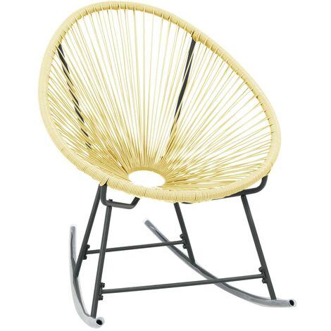 vidaXL Outdoor Acapulco Chair Poly Rattan Beige - Beige
