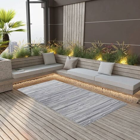 "main image of ""vidaXL Outdoor Carpet Grey 120x180 cm PP"""
