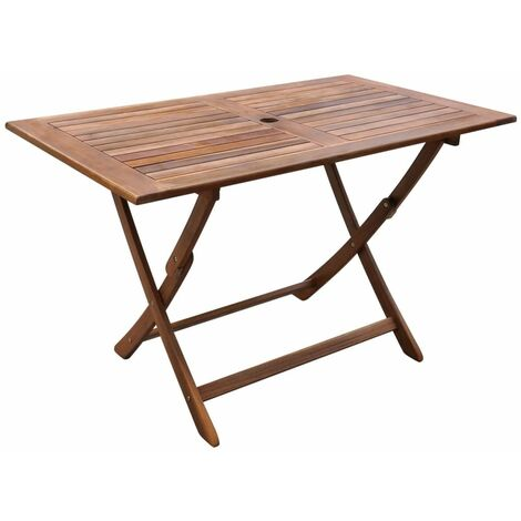 Garden Table 120x70x75 cm Solid Acacia Wood