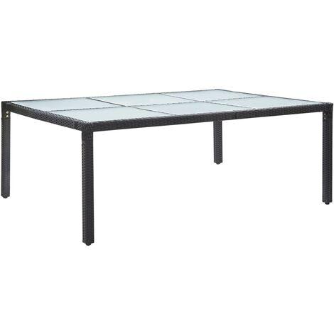 vidaXL Outdoor Dining Table Black 200x150x74 cm Poly Rattan - Black