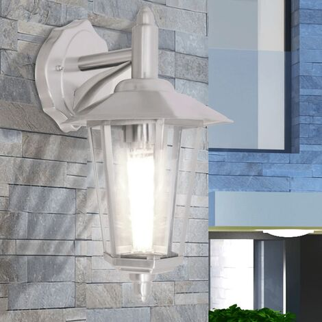 "main image of ""vidaXL Outdoor Downlight Wall Lantern Stainless Steel - Silver"""
