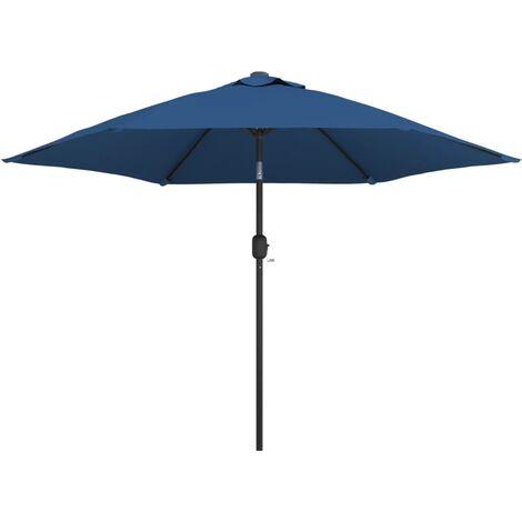 vidaXL Outdoor Parasol with Metal Pole 300 cm Azure - Blue