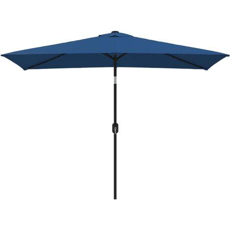 vidaXL Outdoor Parasol with Metal Pole 300x200 cm Black - Black