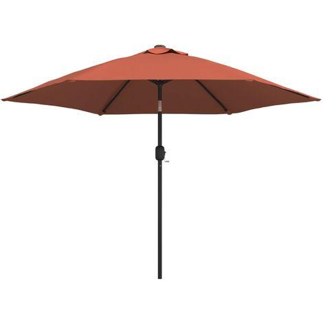 vidaXL Outdoor Parasol with Metal Pole Terracotta 300 cm - Red