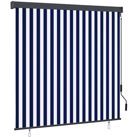 vidaXL Outdoor Roller Blind 160x250 cm Blue and White - Blue