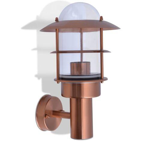 vidaXL Outdoor Wall Light Stainless Steel Copper - Brown