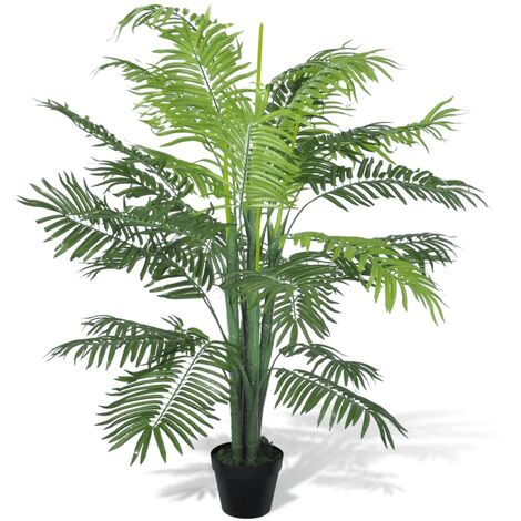 vidaXL Palmier Artificiel avec Pot Plante Artificielle Plante Réaliste Fausse Ornementale Décoration d'Intérieur Multi-modèle Multi-taille