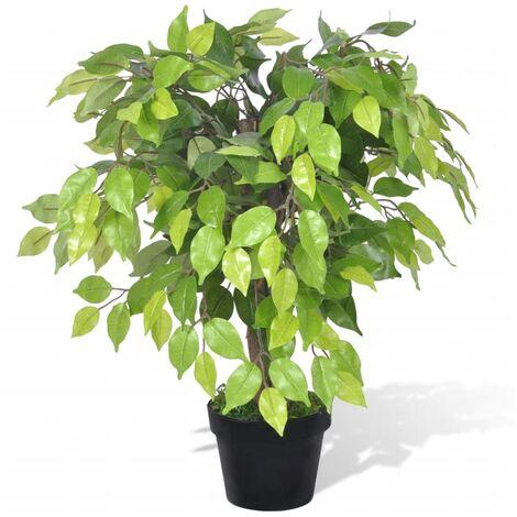 vidaXL Palmier Artificiel Plastique avec Pot Plante Artificielle Plante Réaliste Fausse Ornementale Décoration d'Intérieur Multi-taille
