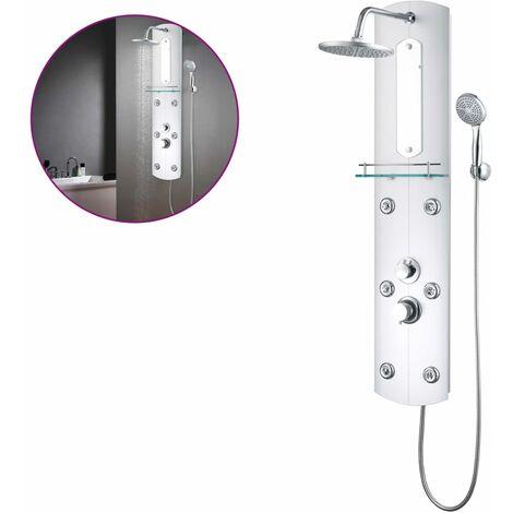 "main image of ""vidaXL Panel de ducha plateado 25x43x120 cm"""