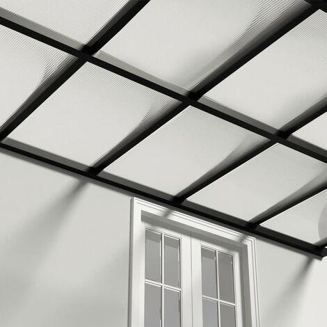 vidaXL Panel de policarbonato 4 mm 121x60,5 cm