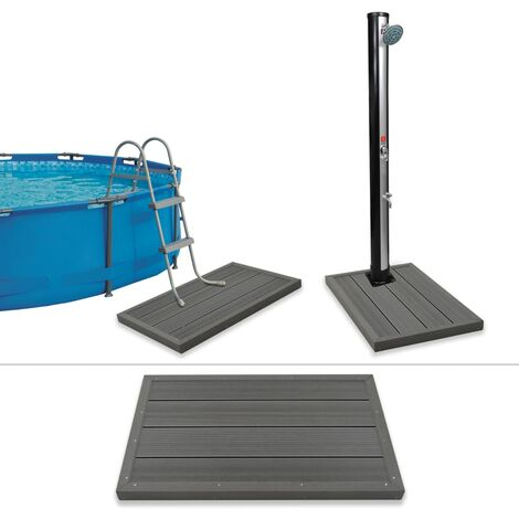 "main image of ""vidaXL Panel de suelo para ducha solar escalera piscina WPC - Gris"""