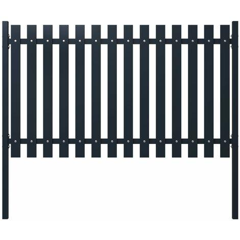 vidaXL Panel de valla acero recubrimiento polvo antracita 174,5x75 cm - Antracita