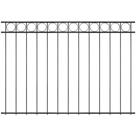 vidaXL Panel de valla de acero 1,96x1,5 m negro