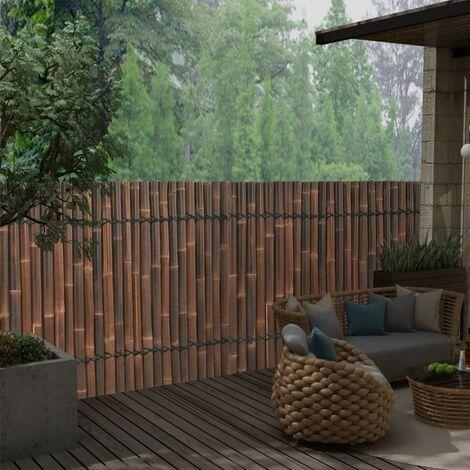 vidaXL Panel de valla de jardín de bambú marrón oscuro 170x125 cm - Marrón
