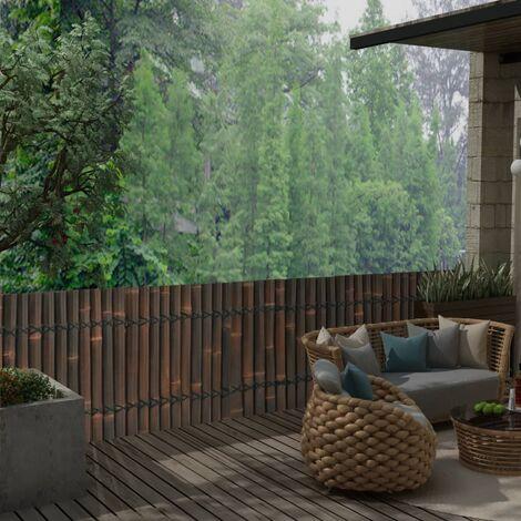 vidaXL Panel de valla de jardín de bambú marrón oscuro 170x75 cm - Marrón